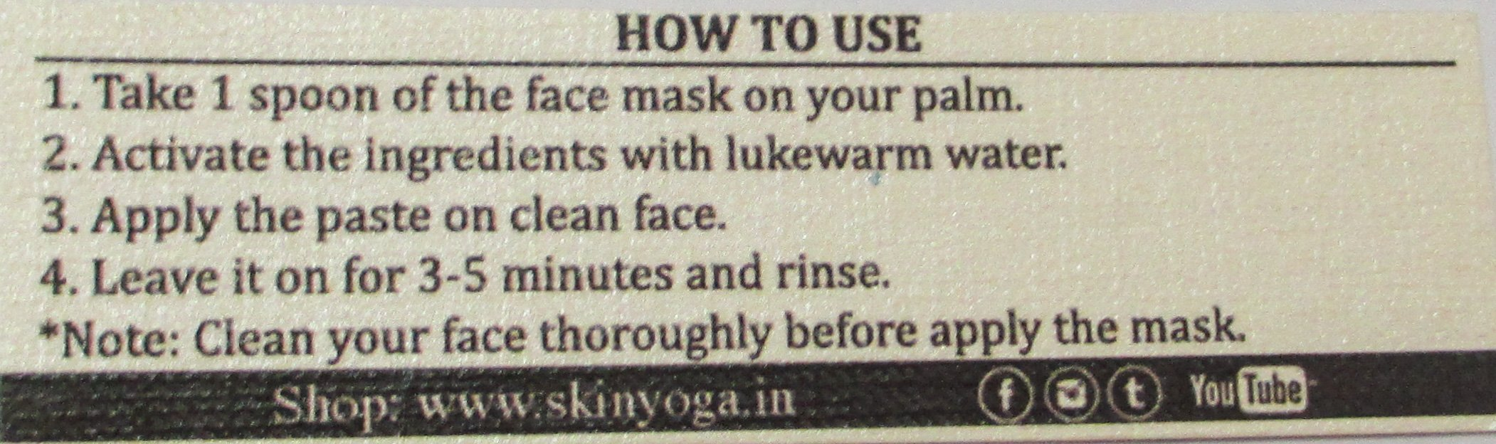How to use Skin Yoga Green Tea Face Mask