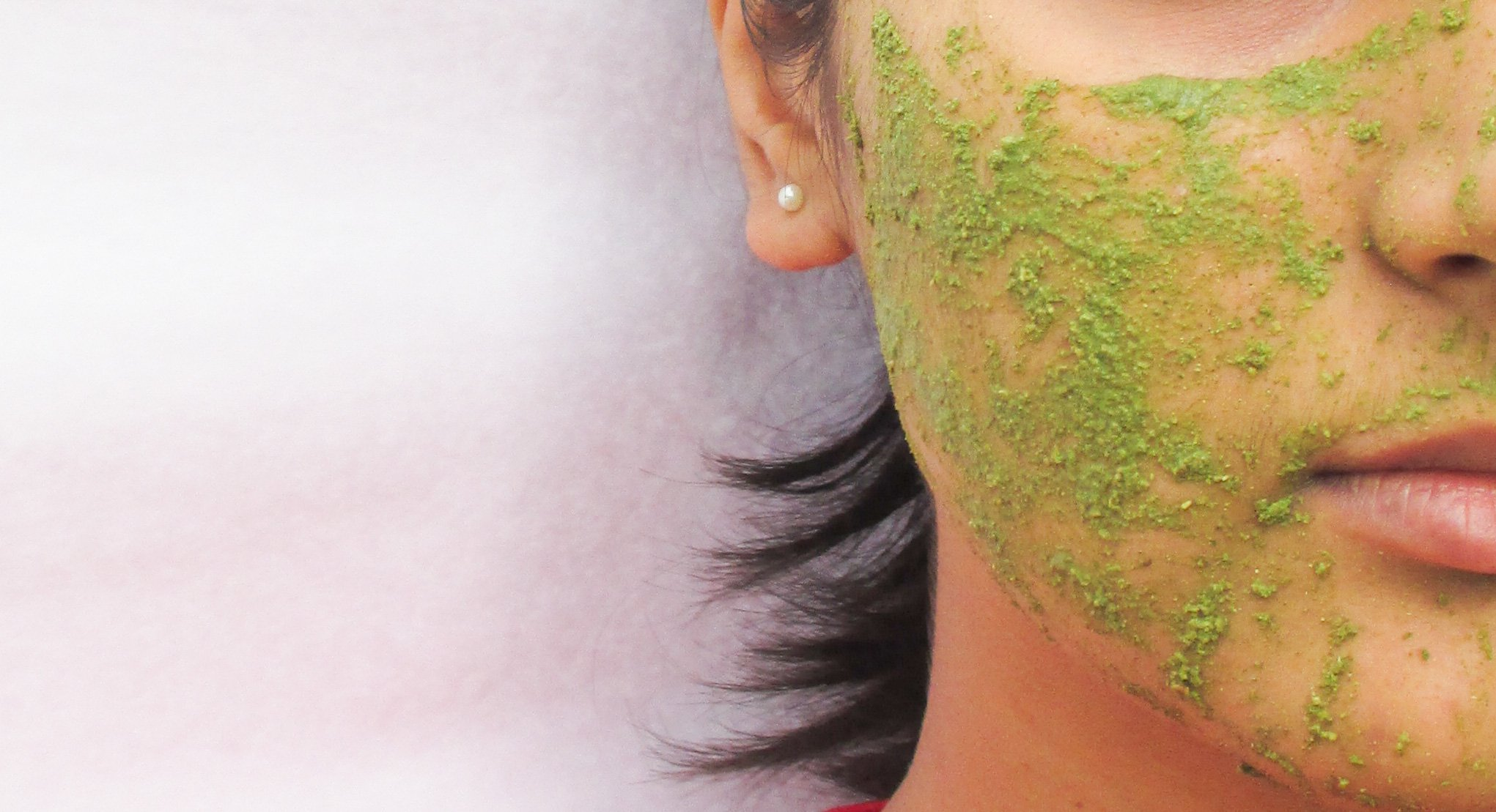 Skin Yoga Green Tea Face Mask Application