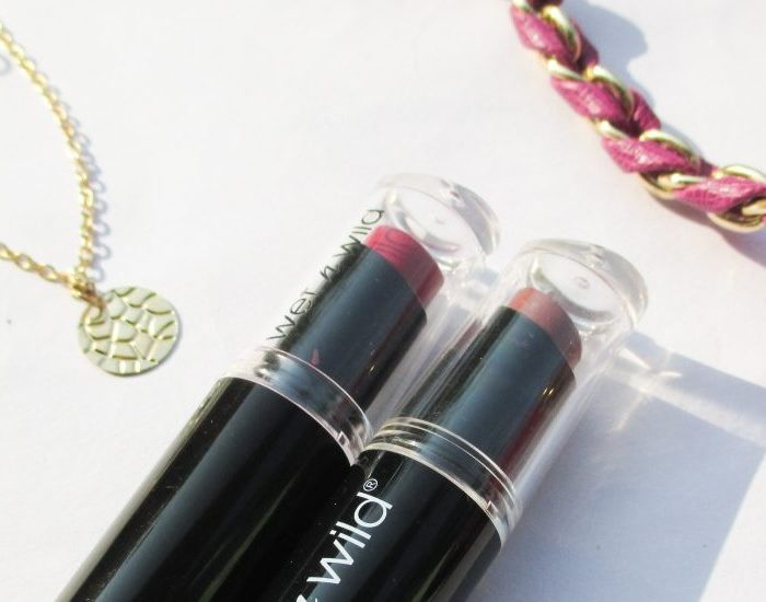 Wet n Wild MegaLast Lipsticks Mochalicious and Cherry Picking Review