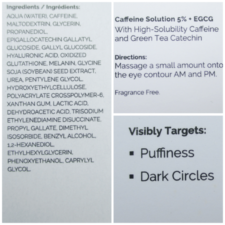 The Ordinary Caffeine Solution 5%+EGCG Product Details