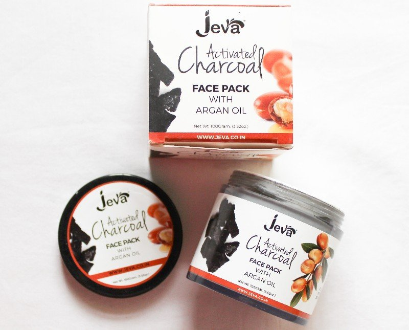 Review of Jeva activated charcoal face pack