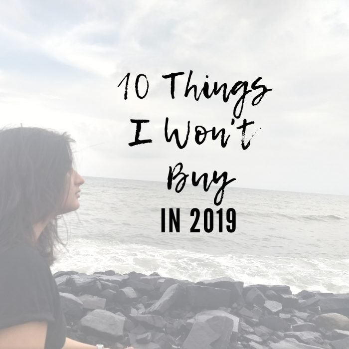 10 Things I Won't Buy This Year