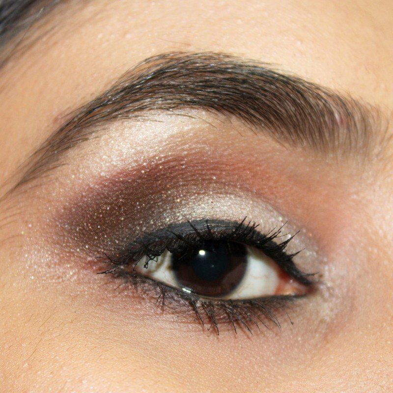 Brown smokey eyes with wet n wild comfort zone eyeshadow