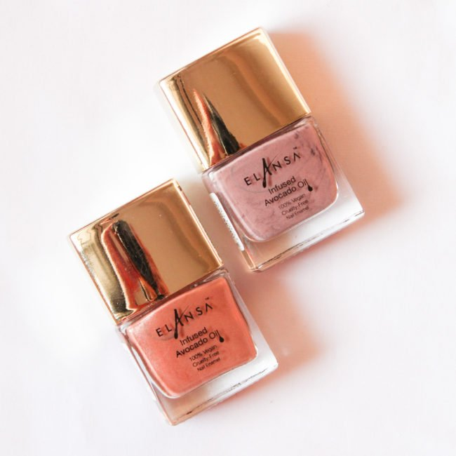 Elansa Nail Paints Midnight Nude & Coffee Froth Review