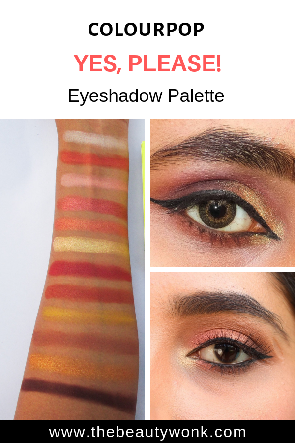 Eyeshadow Looks and Swatches of Colourpop Yes Please Pressed Powder Shadow