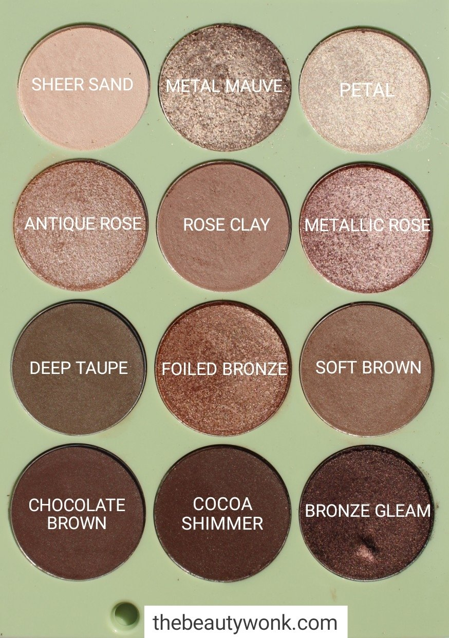 Pixi Natural Beauty Eyeshadow Palette Names