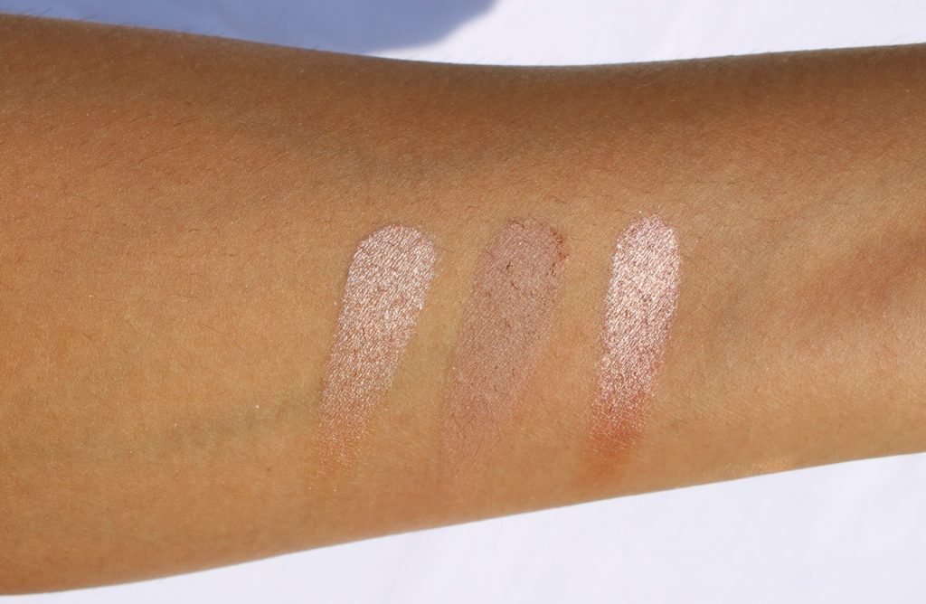 Swatches of Second Row with shades Antique Rose and Rose Clay and Metallic Rose