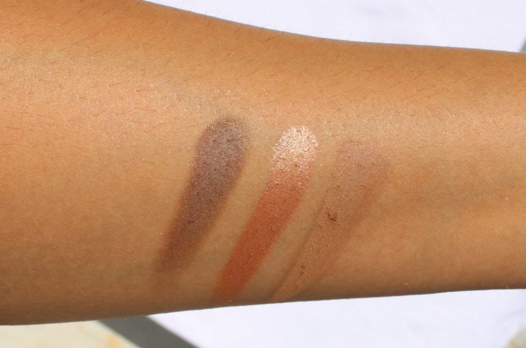 Swatches of Third Row with shades Deep Taupe Foiled Bronze Soft Brown