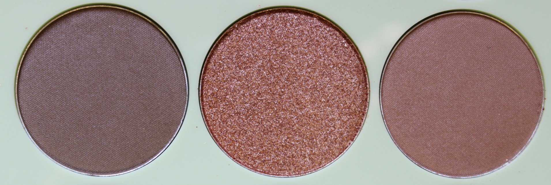 Third Row with shades Deep Taupe and Foiled Bronze and Soft Brown