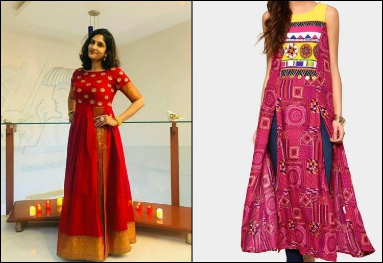Side slit kurtis designs