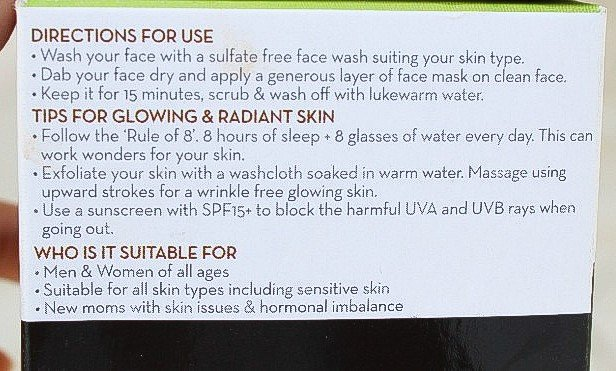 Directions to use mamaearth mask