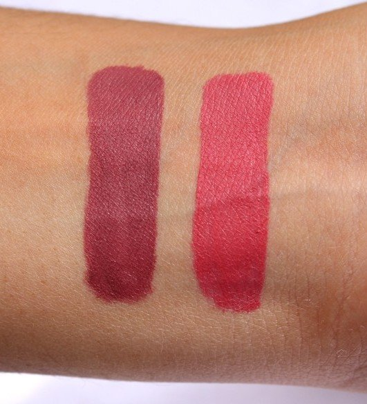 NYX Soft Matte Lip Cream Budapest Sao Paulo Swatches