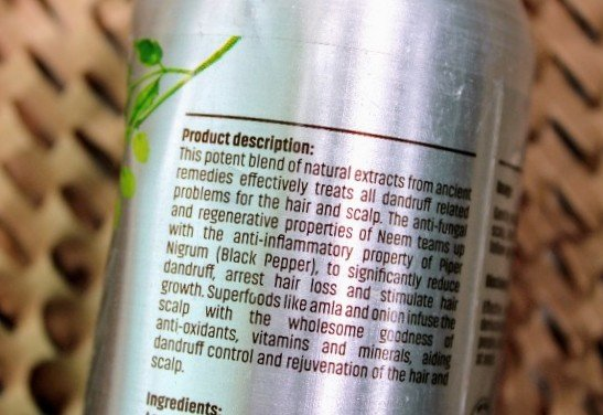 Vilvah Anti Dandruff Shampoo Product Description