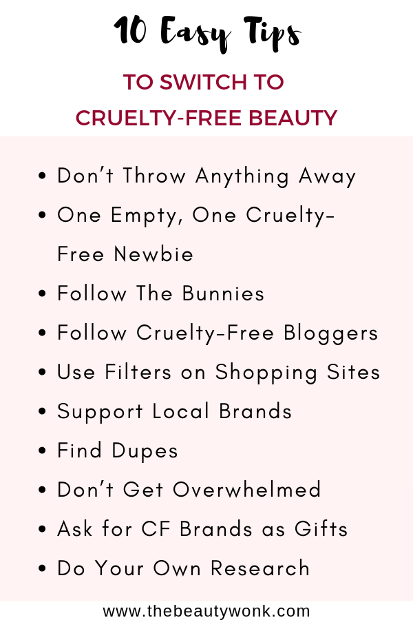 How to switch to cruelty free beauty