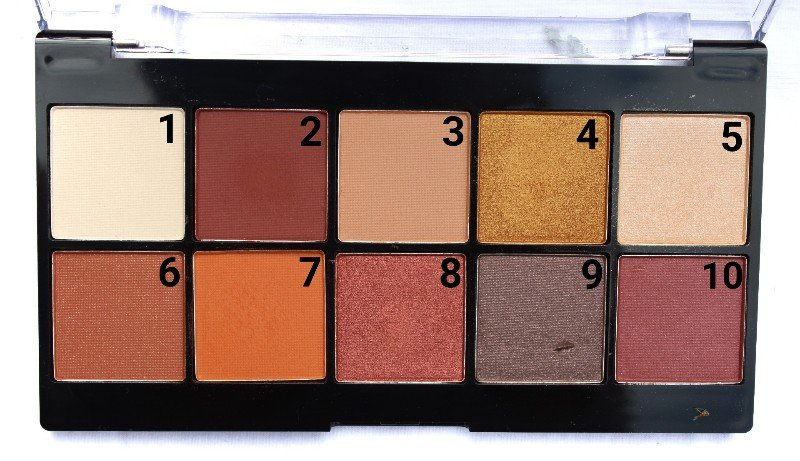 NYX Perfect Filter Rustic Antique Eyeshadow Shades