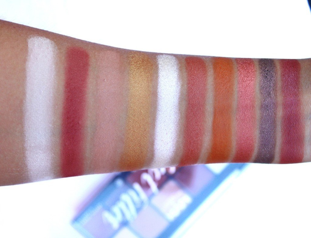 NYX Perfect Filter Rustic Antique Eyeshadow Swatches