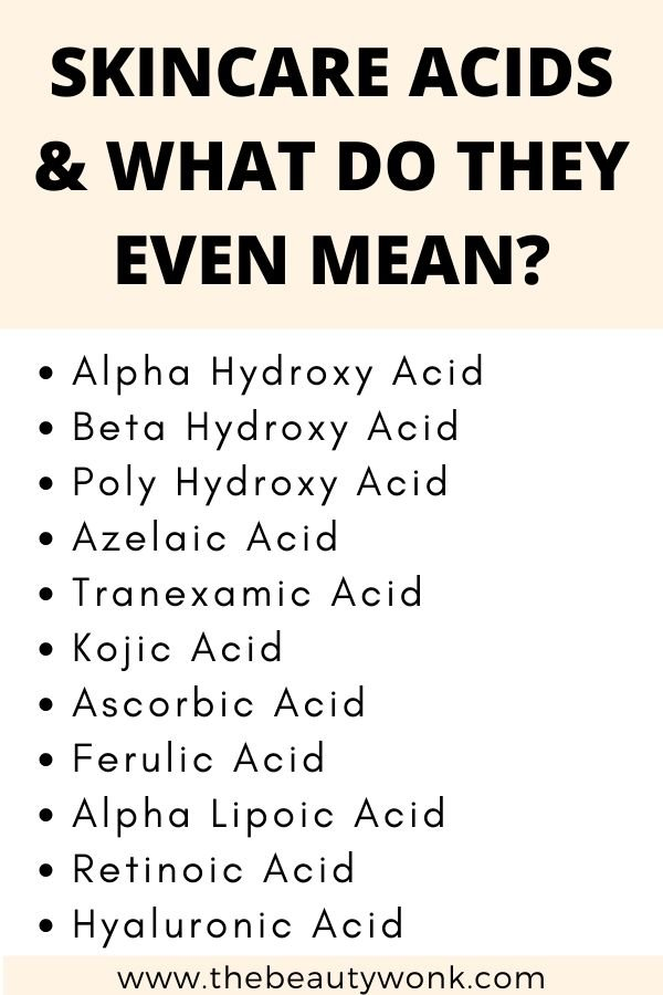 Types of skincare acids and benefits