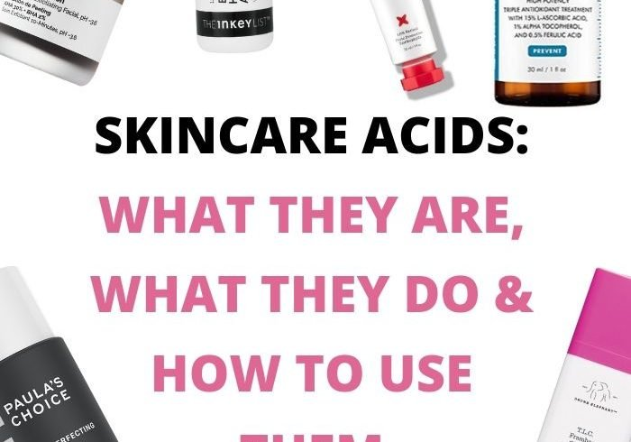 What are different skincare acids