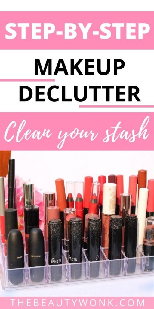 How to declutter makeup