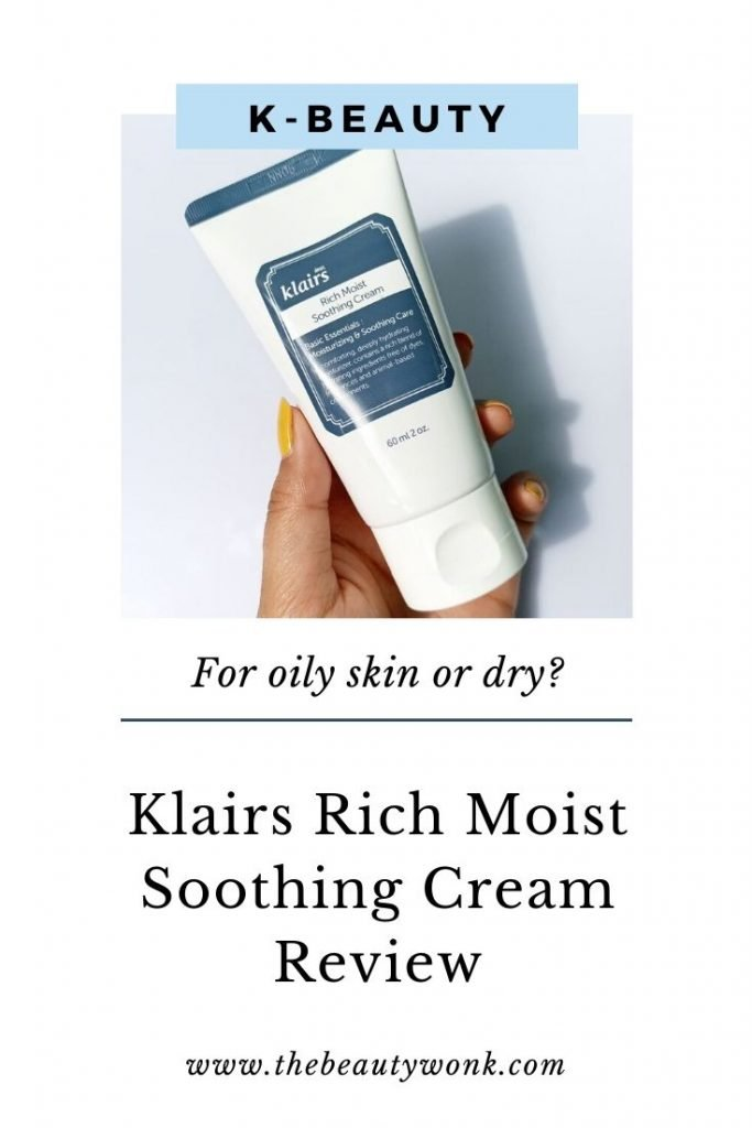 Klairs rich moist soothing cream review, is it for dry skin or oily skin?